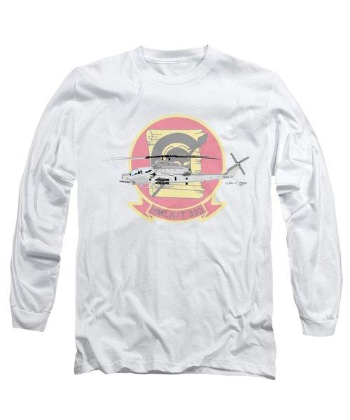 Ah-1z Viper Long Sleeve T-Shirt by Arthur Eggers