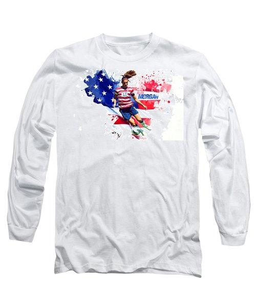 Alex Morgan Long Sleeve T-Shirt by Semih Yurdabak