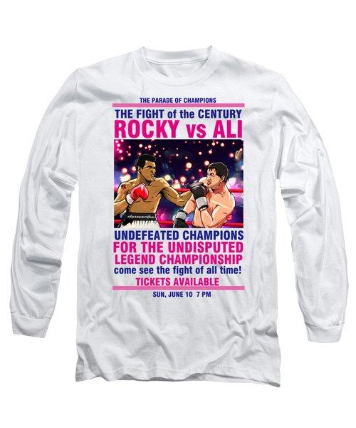 Ali Vs Rocky Long Sleeve T-Shirt by Akyanyme