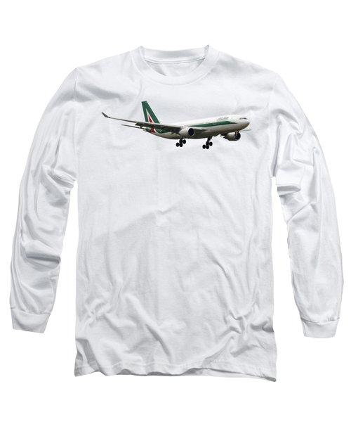 Alitalia, Airbus A330-202. Long Sleeve T-Shirt by Amos Dor
