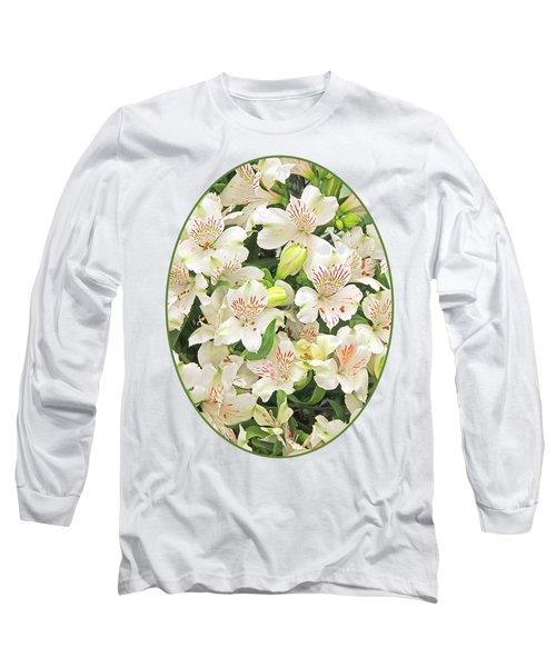 Alluring Alstroemeria - Peruvian Lilies Long Sleeve T-Shirt by Gill Billington