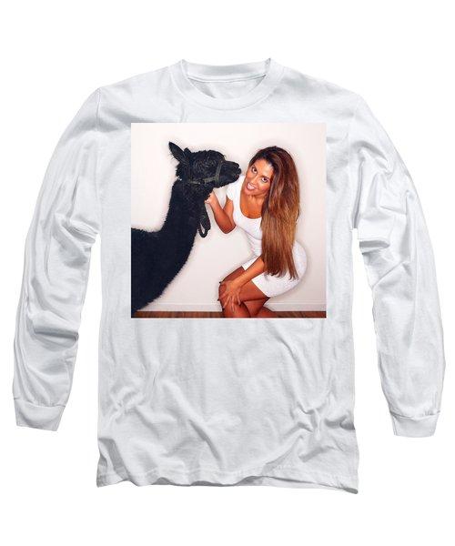 Alpaca Emily And Breanna Long Sleeve T-Shirt by TC Morgan
