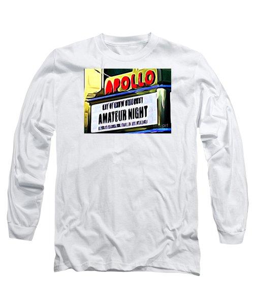 Amateur Night Long Sleeve T-Shirt by Ed Weidman