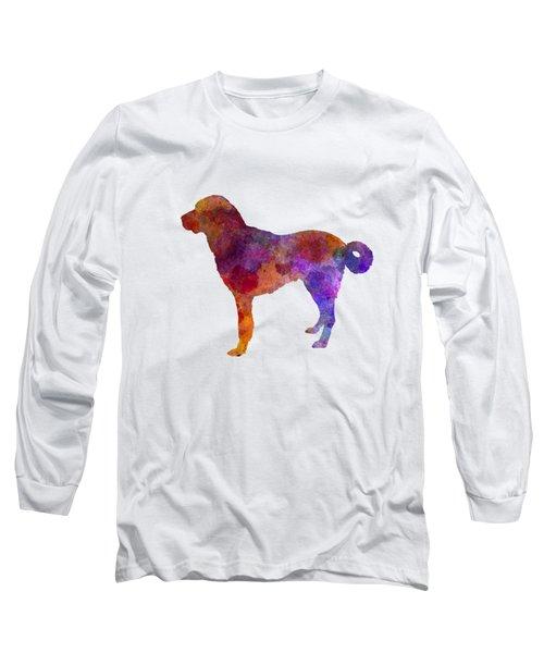 Anatolian Shepherd Dog In Watercolor Long Sleeve T-Shirt by Pablo Romero