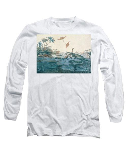 Ancient Dorset Long Sleeve T-Shirt by Henry Thomas De La Beche