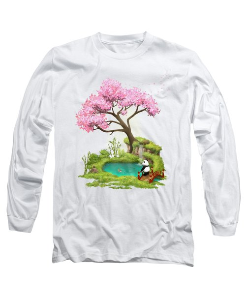 Anjing II - The Zen Garden Long Sleeve T-Shirt by Carlos M R Alves