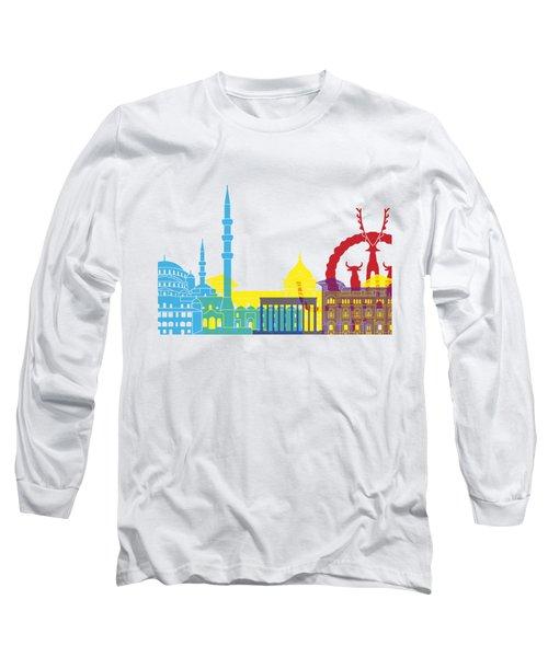 Ankara Skyline Pop Long Sleeve T-Shirt by Pablo Romero