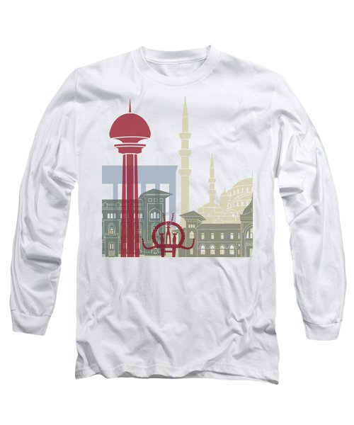 Ankara Skyline Poster Long Sleeve T-Shirt by Pablo Romero