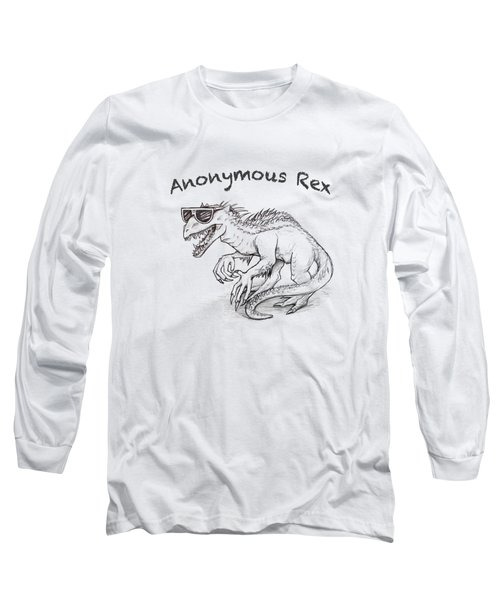 Anonymous Rex T-shirt Long Sleeve T-Shirt by Aaron Spong