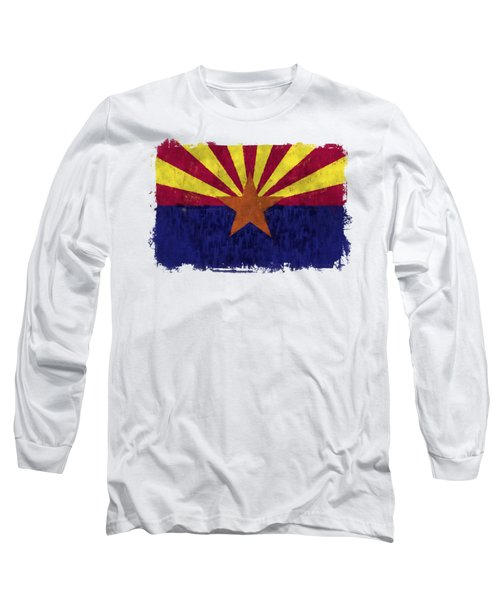 Arizona Flag Long Sleeve T-Shirt by World Art Prints And Designs