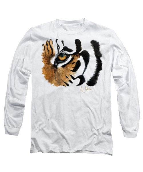 Tiger Eye Long Sleeve T-Shirt by Lucie Bilodeau