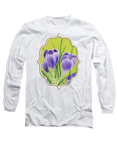 Crocus Long Sleeve T-Shirt by Anastasiya Malakhova