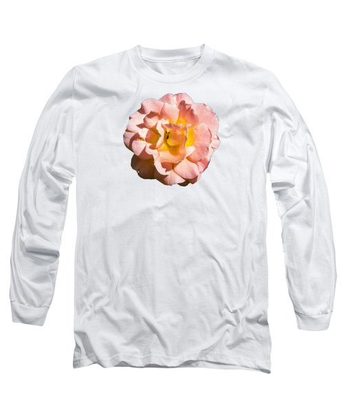 Peach Rose Long Sleeve T-Shirt by Brian Manfra