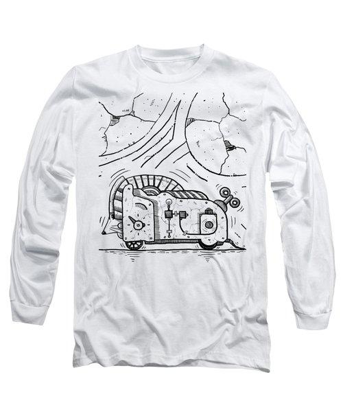 Moto Mouse Long Sleeve T-Shirt by Erki Schotter