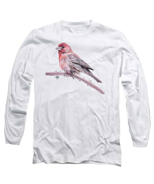 House Finch Long Sleeve T-Shirt by Angeles M Pomata