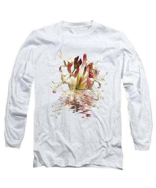 Honeysuckle Reflections Long Sleeve T-Shirt by Gill Billington