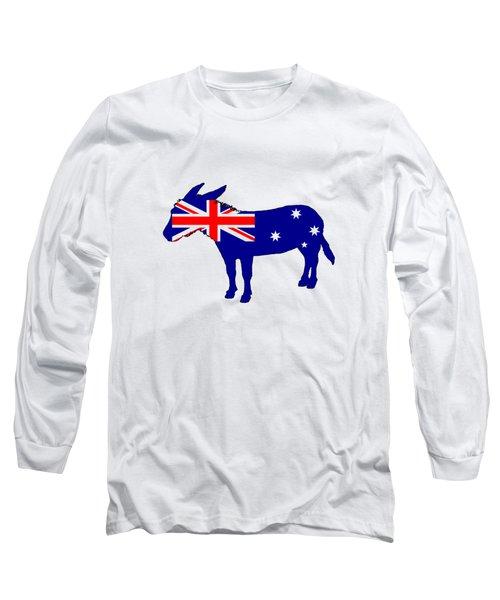 Australian Flag - Donkey Long Sleeve T-Shirt by Mordax Furittus