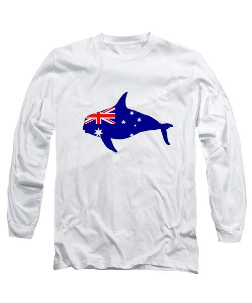 Australian Flag - Killer Whale / Grampus / Orca Long Sleeve T-Shirt by Mordax Furittus