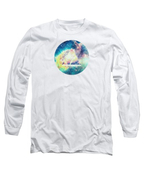 Awsome Collosal Deep Space Triangle Art Sign Long Sleeve T-Shirt by Philipp Rietz