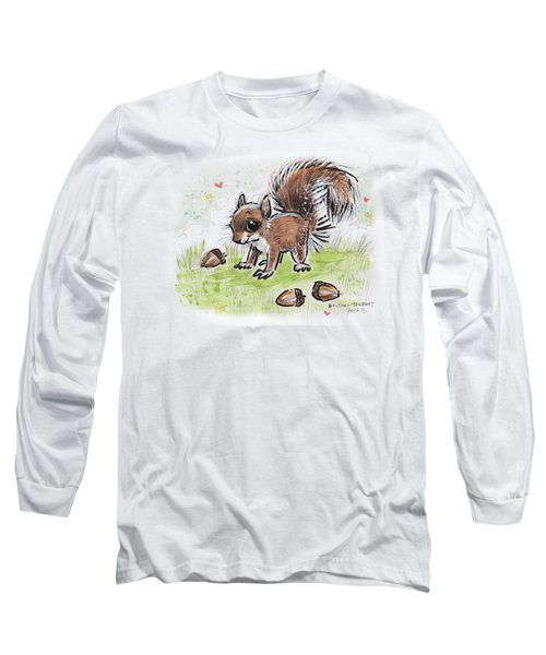 Baby Squirrel Long Sleeve T-Shirt by Maria Bolton-Joubert