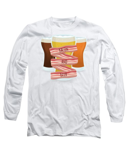 Bacon And Beer Long Sleeve T-Shirt by Renato Kolberg
