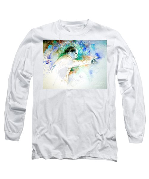 Barack Obama Pointing At You Long Sleeve T-Shirt by Miki De Goodaboom