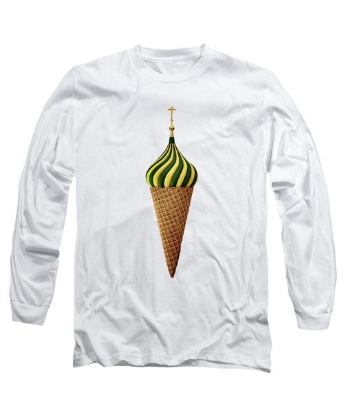 Basil Flavoured Long Sleeve T-Shirt by Nicholas Ely