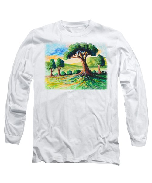 Basking In The Sun Long Sleeve T-Shirt by Anthony Mwangi
