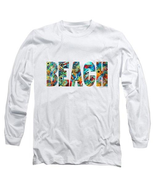 Beach Art - Beachy Keen - By Sharon Cummings Long Sleeve T-Shirt by Sharon Cummings
