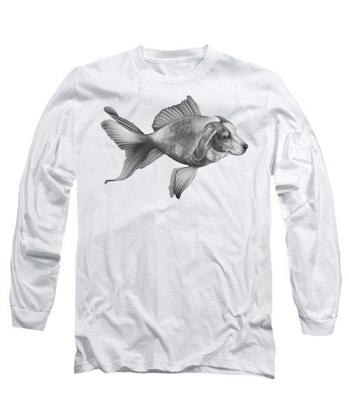 Beaglefish Long Sleeve T-Shirt by Courtney Kenny Porto