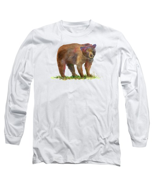 Bear Long Sleeve T-Shirt by Amy Kirkpatrick
