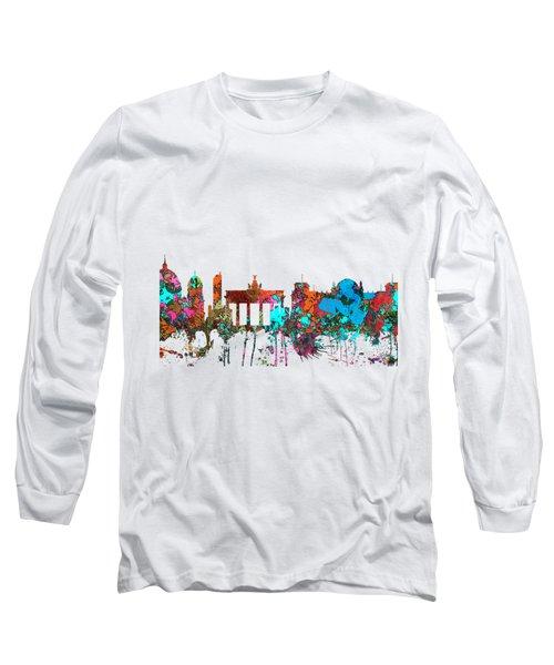 Berlin Germany Skyline  Long Sleeve T-Shirt by Marlene Watson
