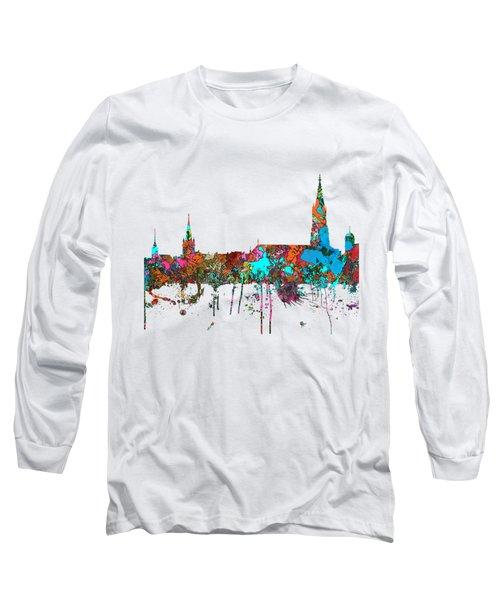 Berne Switzerland Skyline Long Sleeve T-Shirt by Marlene Watson