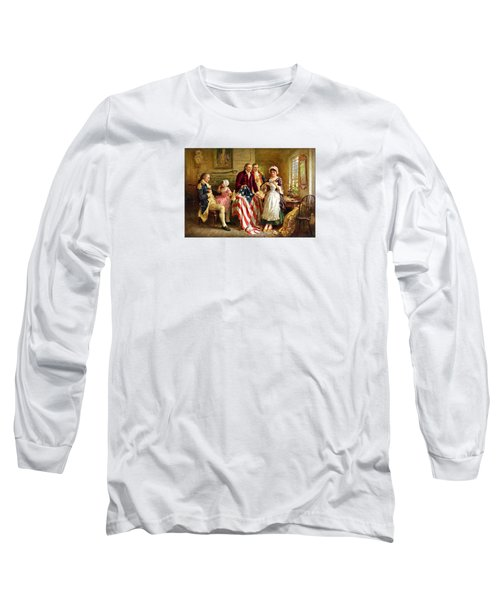 Betsy Ross And General George Washington Long Sleeve T-Shirt by War Is Hell Store