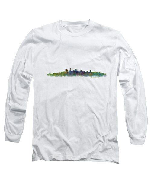 Beverly Hills City In La City Skyline Hq V2 Long Sleeve T-Shirt by HQ Photo