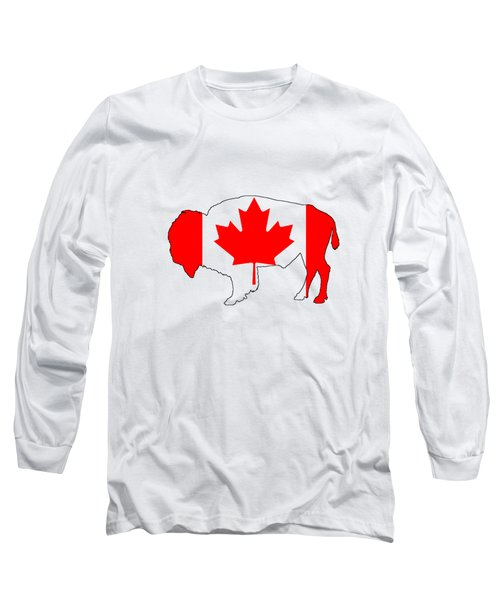 Bison Canada Long Sleeve T-Shirt by Mordax Furittus