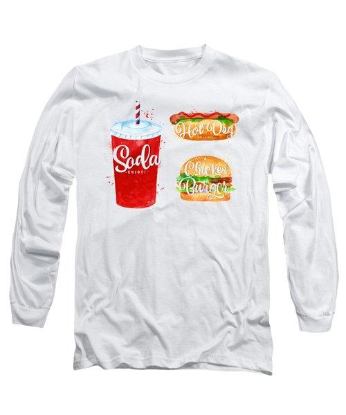 Black Soda Long Sleeve T-Shirt by Aloke Design