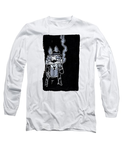 Blake Burns Detective Bunny Long Sleeve T-Shirt by Bizarre Bunny