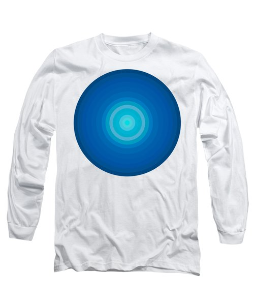 Blue Circles Long Sleeve T-Shirt by Frank Tschakert