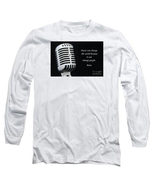 Bono On Music Long Sleeve T-Shirt by Paul Ward
