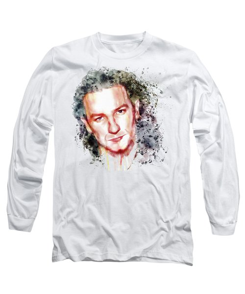 Bono Vox Long Sleeve T-Shirt by Marian Voicu