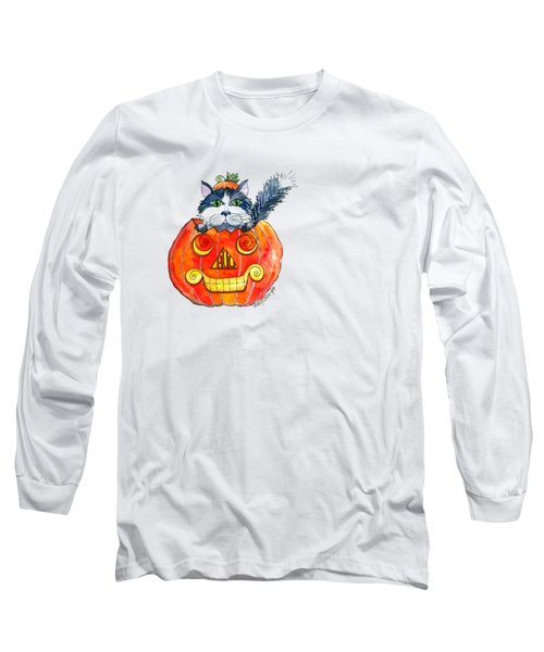 Boo Long Sleeve T-Shirt by Shelley Wallace Ylst