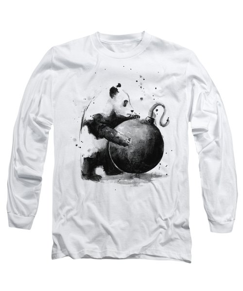 Boom Panda Long Sleeve T-Shirt by Olga Shvartsur