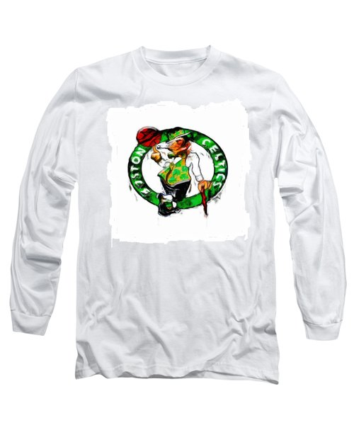 Boston Celtics 2b Long Sleeve T-Shirt by Brian Reaves