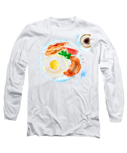 Breakfast 01 Long Sleeve T-Shirt by Aloke Design