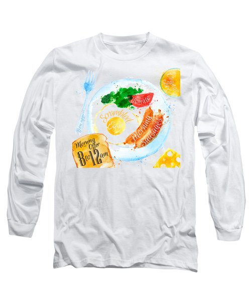 Breakfast 04 Long Sleeve T-Shirt by Aloke Design
