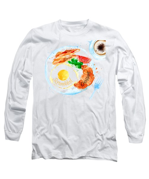 Breakfast 03 Long Sleeve T-Shirt by Aloke Design