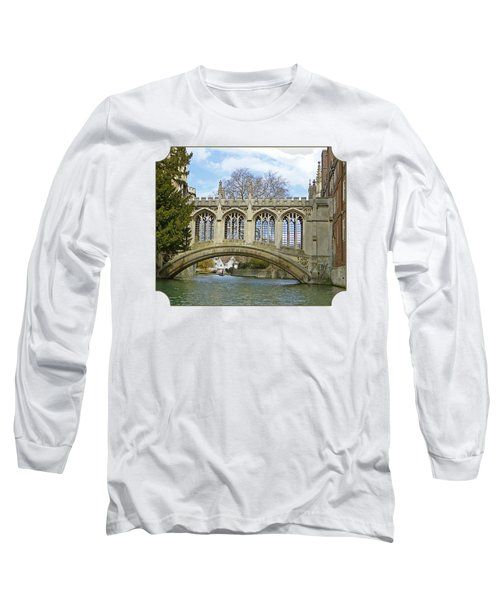 Bridge Of Sighs Cambridge Long Sleeve T-Shirt by Gill Billington