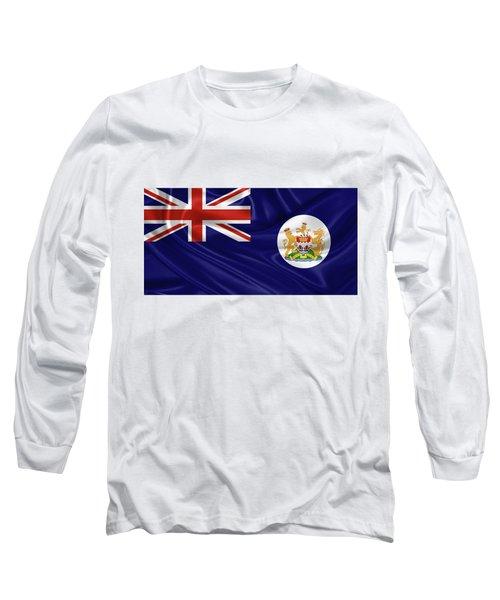 British Hong Kong Flag Long Sleeve T-Shirt by Serge Averbukh