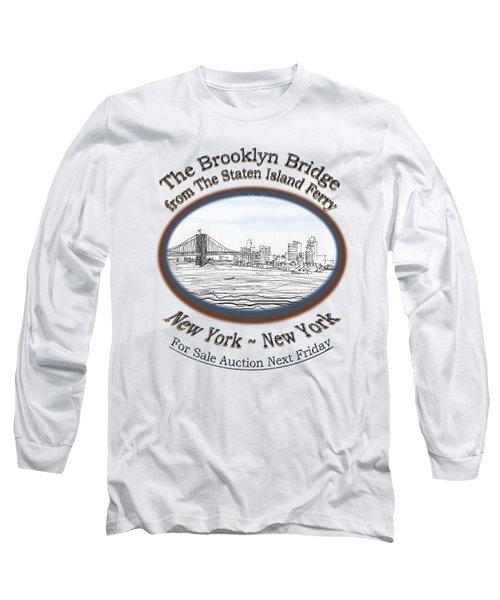 Brooklyn Bridge Long Sleeve T-Shirt by James Lewis Hamilton